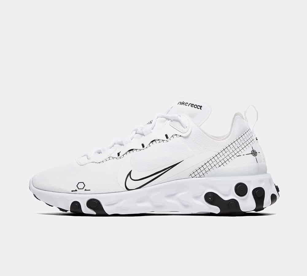 Nike React Element 55 White / Black / White
