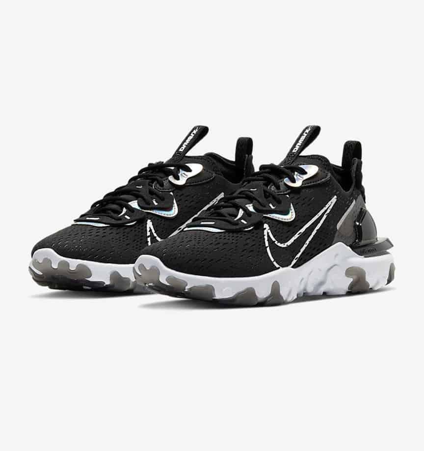 Nike NSW React Vision Black: Iridescent 1