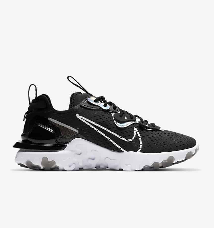 Nike NSW React Vision Black: Iridescent 6