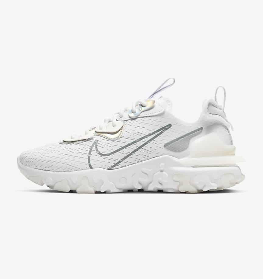 Nike NSW React Vision White: Iridescent 2