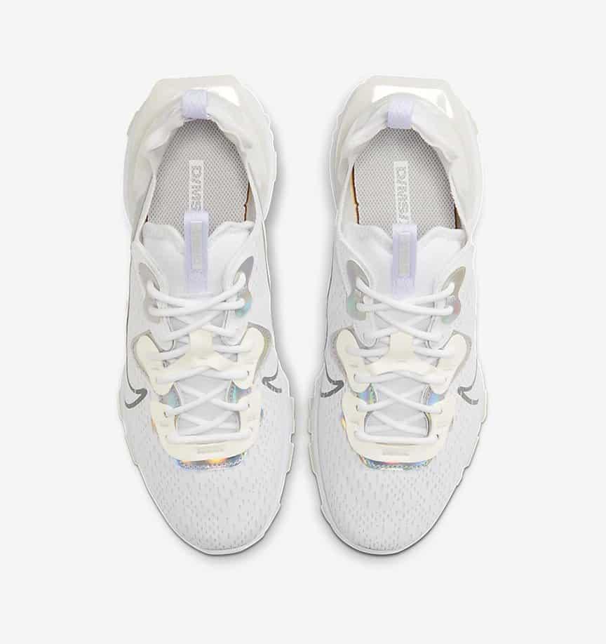 Nike NSW React Vision White: Iridescent 3