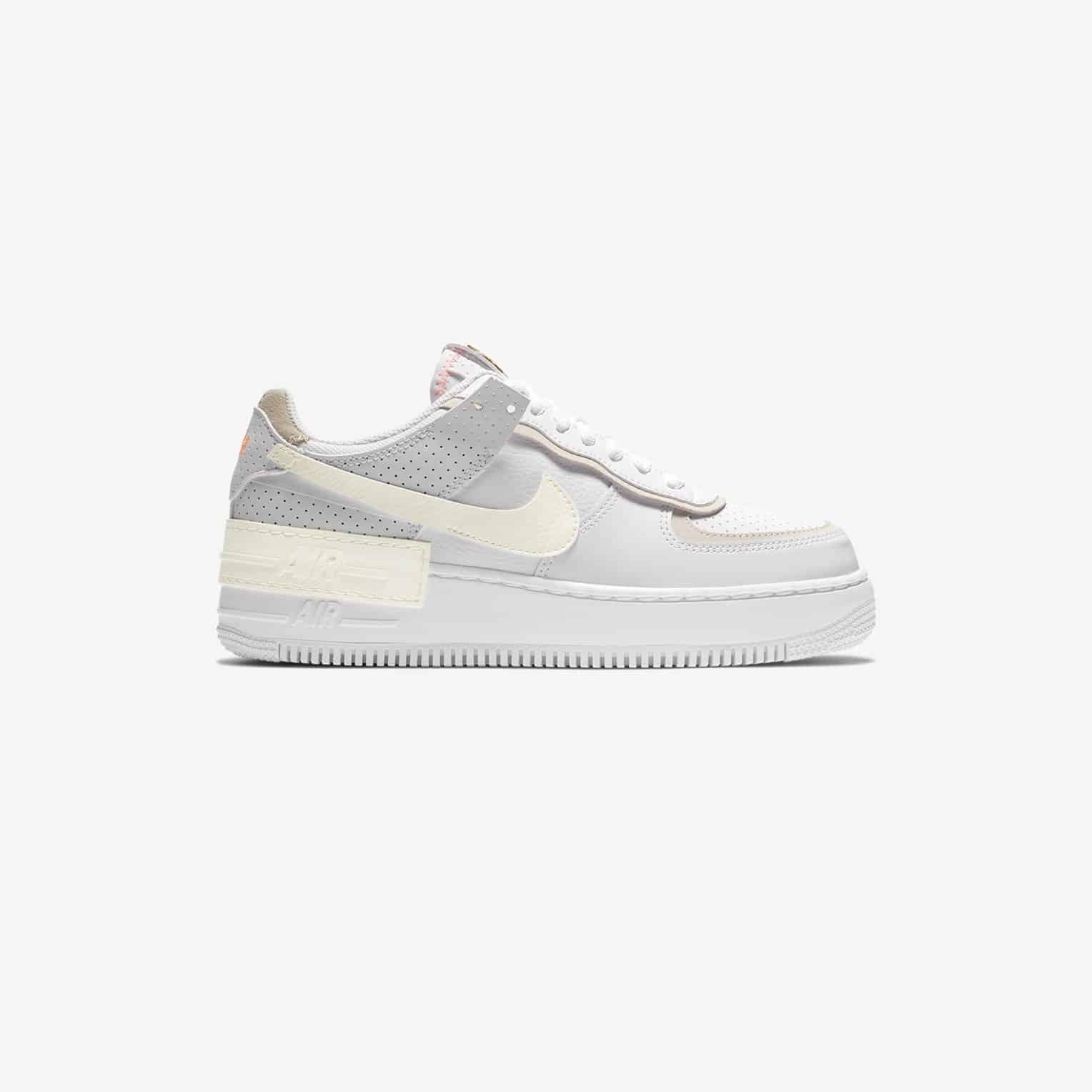 Nike Air Force 1 Shadow White Atomic Pink Neoteric Official Nike sportswear adds to their women's lineup with a brand new edition of the air force 1 shadow. nike air force 1 shadow white atomic